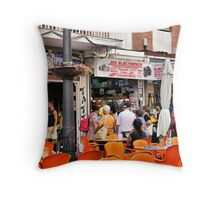 Guess Who Found the Camera Shop. Throw Pillow