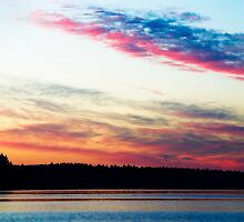 Dazzling Sunset - Puget Sound by Lynnette Peizer