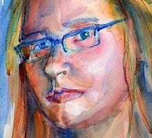 A Portrait A Day 13 - self-portrait by Yevgenia Watts