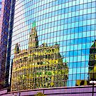 Reflecting Building Windows Chicago USA by Jonathan  Green