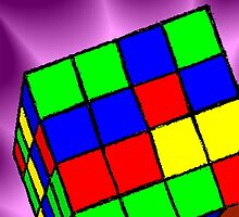 Multi Coloured cube Sudoku game by tillydesign