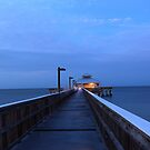 pier at dawn by kathy s gillentine