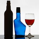 Wine Glass and The Empty Bottles. by Mukesh Srivastava