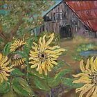Sunflower Barn by Mikki Alhart
