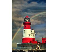 Rainbow Shining Through Lighthouse ~ Farne Islands Photographic Print