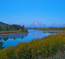 Oxbow Bend fall Sunrise by Luann wilslef