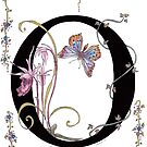 """O"" is For Orchids and a Butterfly by Constance Widen"