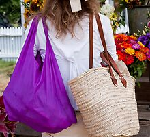 Bags And Ribboned Straw by phil decocco