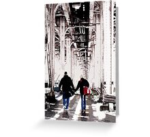 couple under el, chicago Greeting Card