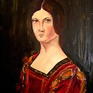 Renaissance lady oil paint study based on La belle Ferroniere by patjila