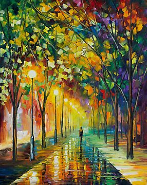 Green Dreams - Original Art Oil Painting On Canvas By Leonid Afremov by Leonid  Afremov