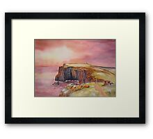 Spectacular on Isle of May. Scotland Framed Print