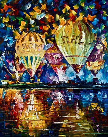 Balloon Festival - Original Art Oil Painting By Leonid Afremov by Leonid  Afremov
