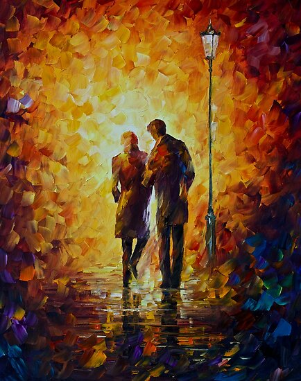 Come Together - Original Art Oil Painting On Canvas By Leonid Afremov by Leonid  Afremov
