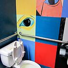 Bathroom Wall Eyes by Jay Gross