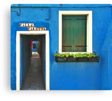 Burano - calle caletta Canvas Print