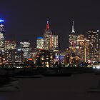 Melbourne Skyline at night by KarynL