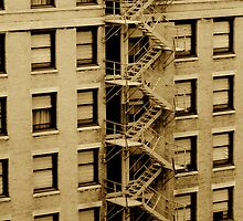 Emergency Stairs Sepia by Jonathan  Green