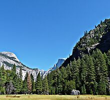 Half Dome Peeking Around The Corner by Stella Day