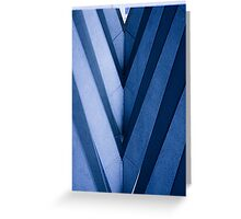 Abstract Architecture in Blue II Greeting Card