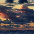 Storm Clouds building up at sunset. by BigAndRed