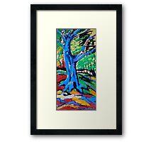 Blue oak Framed Print