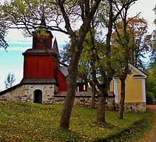 The little church of Fagervik Manor, Finland by Tarolino