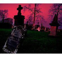 Cemetary in Ohio Photographic Print