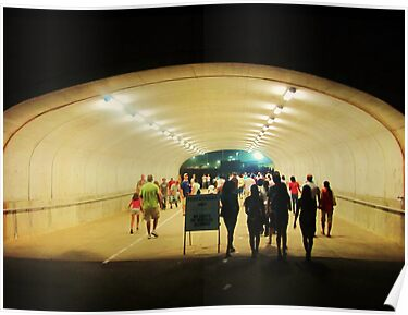 tunnel pedestrians by ANNABEL   S. ALENTON