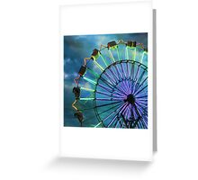 skydiver at night Greeting Card