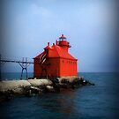 Sturgeon Bay Canal North Pierhead Light © by Dawn M. Becker