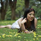 Japanese Flower Girl by Noel Elliot