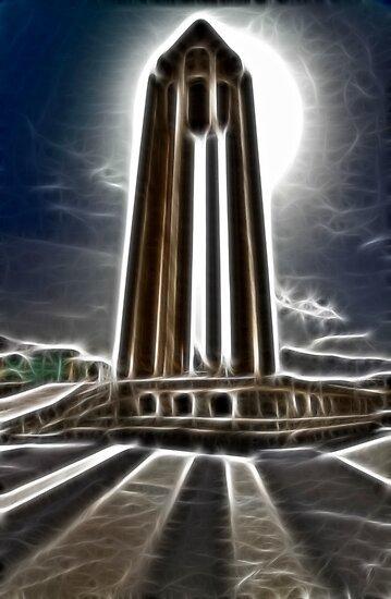 In the Fractallius Shadow of the Tomb of Ibn S?n? - Hamadan - Iran by Bryan Freeman