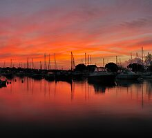 Christchurch - Pink Dawn On The River Stour. by delros