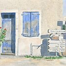 House with roadsigns, St Sornin, France by ian osborne