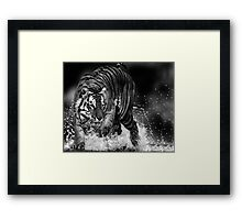 Can't I even have a bath in peace these days?!! Framed Print