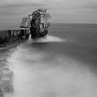 Portland Bill Seascapes in Black and white by Ian Middleton