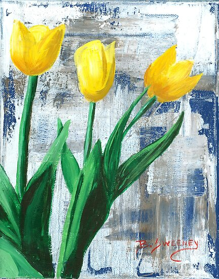 Yellow Tulips - Original Artwork by BSweeney