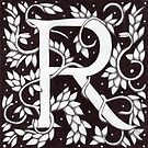 "Art Nouveau ""R"" (Sold) by Donnahuntriss"