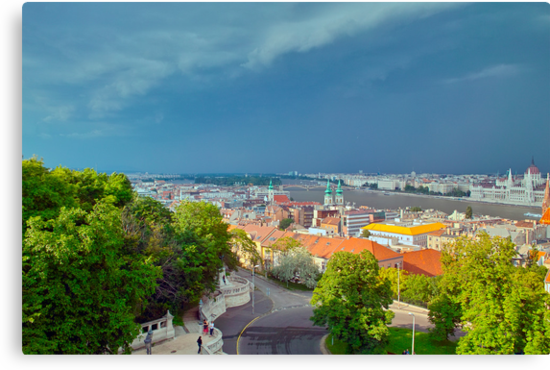Storm Approaching Buda Over Pest by Priscilla Turner