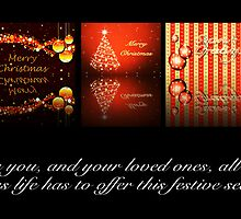 Orange Christmas Card Mantel by ChiaraLily
