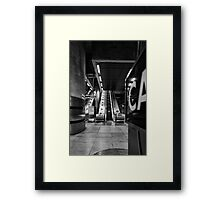 Canary Wharf Tube Framed Print