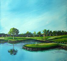 The 17th Hole by Nancy  Asbell