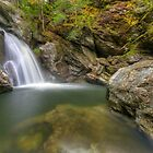 Bingham Falls - Wide View - HDR by Stephen Beattie