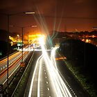 A30 in Cornwall at night by MungoPL