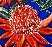 Red Waratah by Rachel Ireland-Meyers