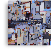 Gridlock, abstract oil on canvas Canvas Print