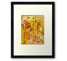 Yellow Conundrum, oil on canvasboard Framed Print