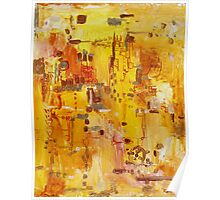 Yellow Conundrum, oil on canvasboard Poster