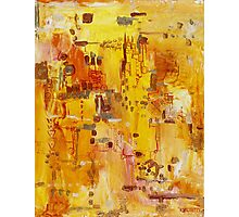 Yellow Conundrum, oil on canvasboard Photographic Print